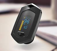 Оксиметр Boxym oSport пульсоксиметр Pulse Oximeter пальчиковый пульсометр измерение кислорода в крови. Черный