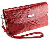 Жіночий клатч Karya 1121-074 шкіряний червоний