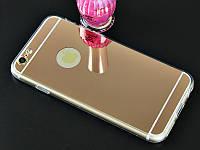 Зеркальный силиконовый чехол  для iPhone 6/6s, фото 1