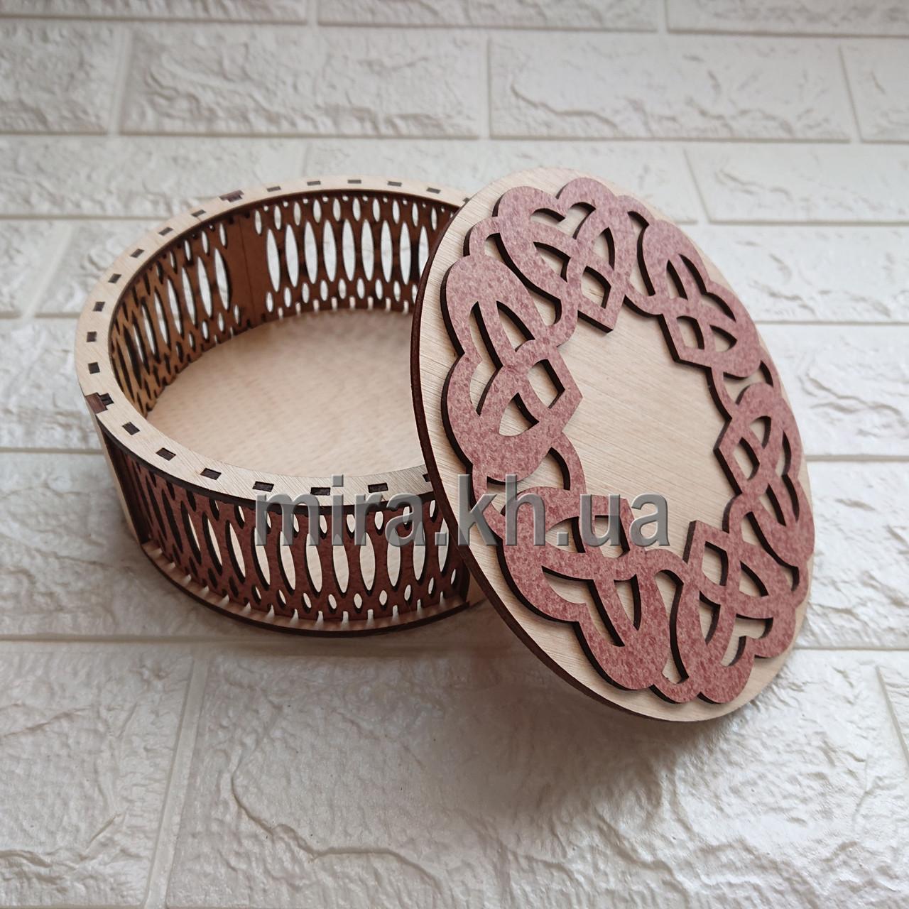 Шкатулка кругла Танець сердець (біло-червоний або червоно-біла)