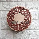 Шкатулка кругла Танець сердець (біло-червоний або червоно-біла), фото 4