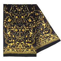 """""""Пламя свечи"""" рис.1326-18 шарф женский шелковый (крепдешин) 43х150 см"""