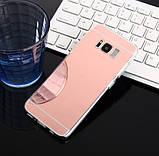 Зеркальный силиконовый чехол для Samsung Galaxy S8, фото 3