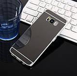 Зеркальный силиконовый чехол для Samsung Galaxy S8, фото 5