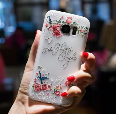 Силиконовый чехол с 3D цветы для Samsung Galaxy J5/J530 (2017)