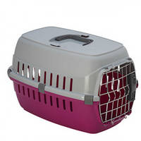 Moderna РОУД-РАННЕР 1 переноска для собак и кошек. с металлической дверью IATA, 51х31х34 см, розовый
