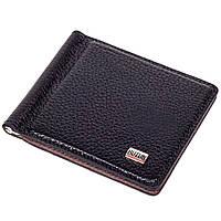 Зажим для денег Butun 213-004-001 кожаный черный