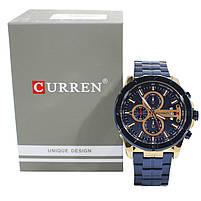 Часы мужские CURREN 8337 Blue наручный для мужчин стильный аксессуар кварцевые влагозащищенные, фото 6
