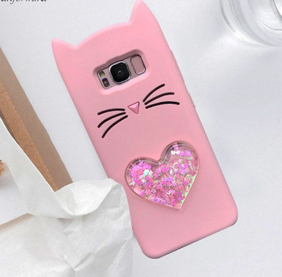 3D Чехол для Samsung Galaxy j5/J530 2017 Котик с ушками и сердечком