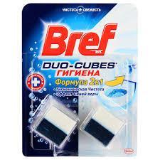 Чистячі кубики для унітазу Bref Дуо-Куб Гігієна 100 г