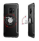 Противоударный бампер с магнитом и кольцом для Huawei Honor 9 Lite, фото 2