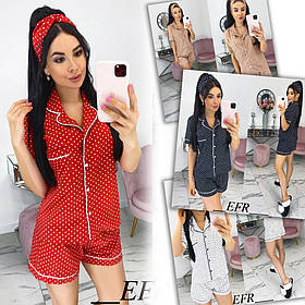 Жіночий домашній костюм з пов'язкою / супер софт / Україна 50-521