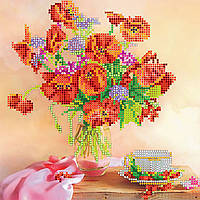 """Схема для вышивания бисером на художественном холсте """"Утренний чай"""""""