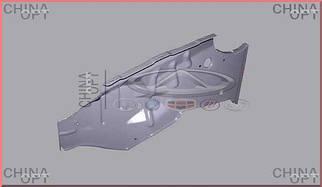 Бризговики склянки передній R (накладка під крилом)