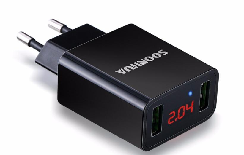 Зарядное устройство Soonhua LED Дисплей 2 USB