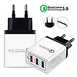 Зарядний пристрій Qualcomm Quick Charge 3.0 Швидка зарядка, фото 2