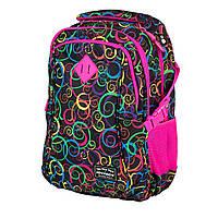 """SE-0064 Ортопедический подростковый рюкзак для девочки """"Гипноз"""" 44*30*18 см.  4 отделения"""
