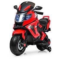 Детский электромотоцикл BMW (2 мотора по 18W, USB,TF) Мотоцикл Bambi M 3681AL-3 Красный