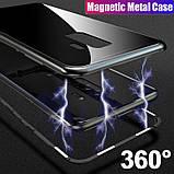 Магнитный чехол со стеклянной задней панелью для Samsung Galaxy S9, фото 2