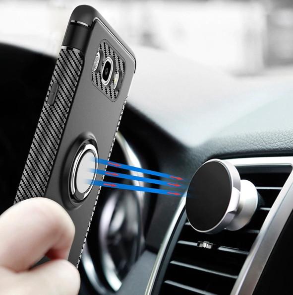 Противоударный бампер с магнитом и кольцом для Samsung Galaxy S8 Plus