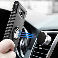 Противоударный бампер с магнитом и кольцом для Samsung Galaxy S8 Plus, фото 1