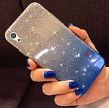 Силиконовый чехол градиент блеск для Sony Xperia X (F5122) (F5121), фото 4