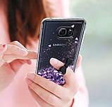 Чехол-накладка (Жидкий Блеск) для Samsung Galaxy S7 edge, фото 3