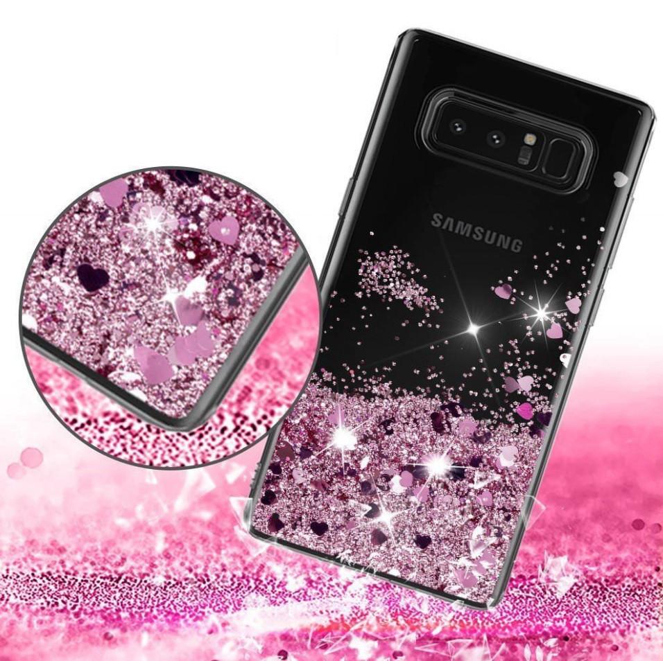 Чехол-накладка (Жидкий Блеск) для Samsung Galaxy S7 edge