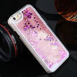 Чехол-накладка жидкий блеск с ободком для Iphone 7, фото 2