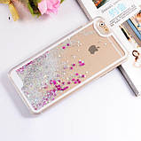 Чехол-накладка жидкий блеск с ободком для Iphone 7, фото 3