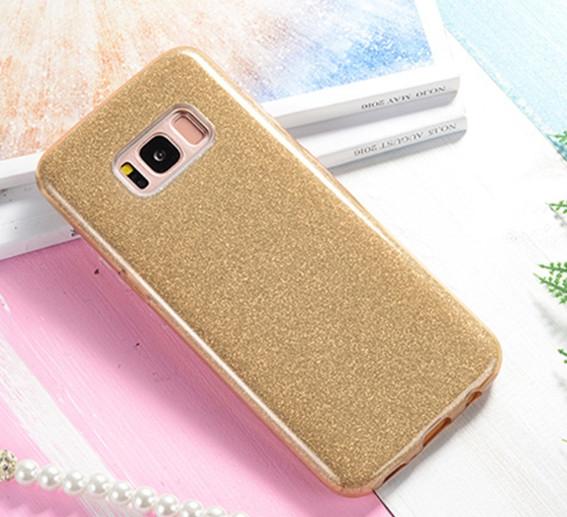Чехол 3 в 1 с блестками на Samsung Galaxy S8
