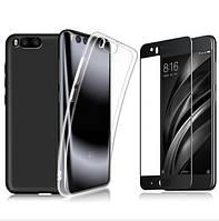 Комплект из 2 чехлов для Xiaomi Mi 6 + защитное 2.5D стекло