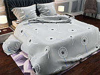 Очень милый двухспальный комплект постельного белья отличного качества, одуванчики