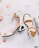 Шикарные женские  босоножки на каблуке, фото 4