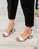 Шикарные женские  босоножки на каблуке, фото 3