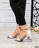 Шикарные женские  босоножки на каблуке, фото 6