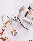 Шикарные женские  босоножки на каблуке, фото 8