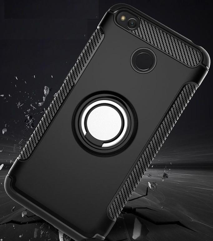 Противоударный бампер с магнитом и кольцом Xiaomi Redmi 4X