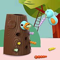 Магнитная игра с червячками Накорми птенца