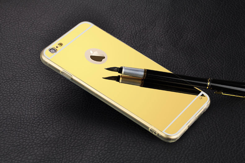 Зеркальный силиконовый чехол  для iPhone 5/5S/SE