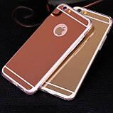 Зеркальный силиконовый чехол  для iPhone 5/5S/SE, фото 3