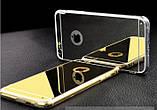 Зеркальный силиконовый чехол  для iPhone 5/5S/SE, фото 4