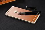 Зеркальный силиконовый чехол  для iPhone 5/5S/SE, фото 6