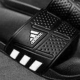 Мужские сланцы в стиле Adidas (full black), сланцы Адидас, шлепанцы Адидас (Реплика ААА), фото 6
