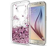 Чохол-накладка (Рідкий Блиск) для Samsung Galaxy J7/J730 (2017), фото 4