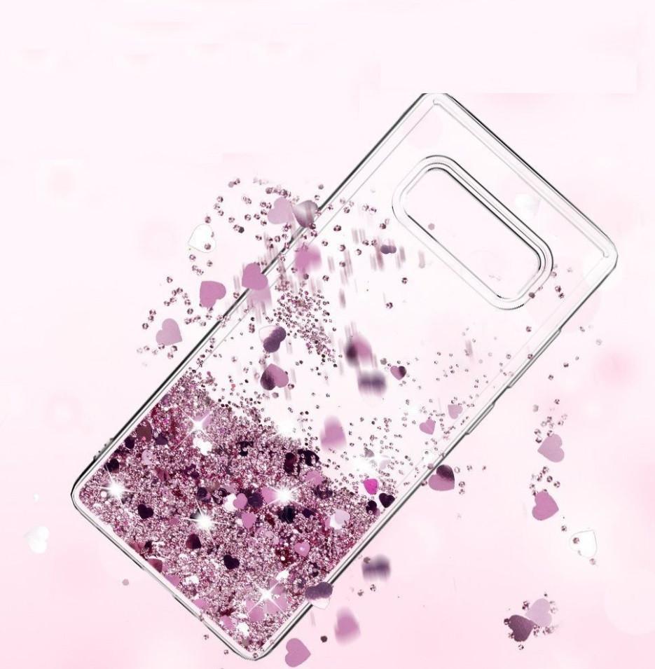 Чехол-накладка (Жидкий Блеск) для Huawei P8 Lite (2017)