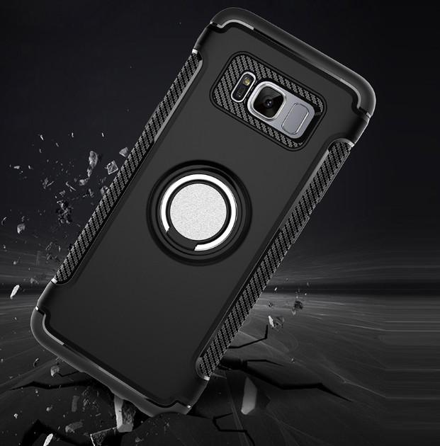 Противоударный бамперс магнитом и кольцомSamsung Galaxy S8