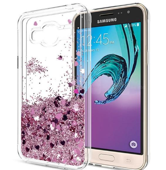 Чехол-накладка Жидкий Блеск для Samsung Galaxy S6 edge
