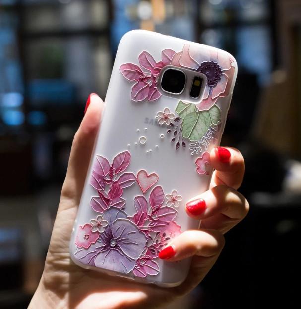 Силиконовый чехол с 3D цветы для Xiaomi Redmi S2