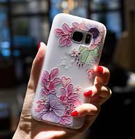 Силиконовый чехол с 3D цветы для Xiaomi Redmi S2, фото 1